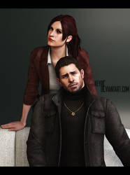Claire and Chris Redfields