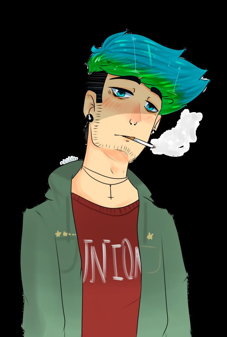 Chris smoking by CamiiStyles