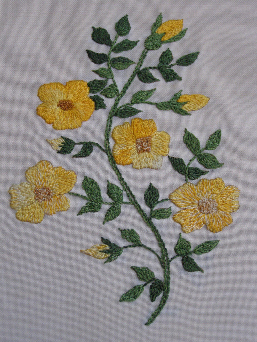 Flower embroidery by autumn beads on deviantart