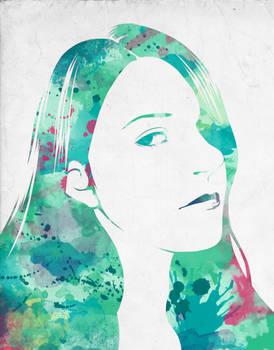 Sea Green Self-Portrait