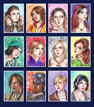 ACEO: Assassin's Creed Ladies