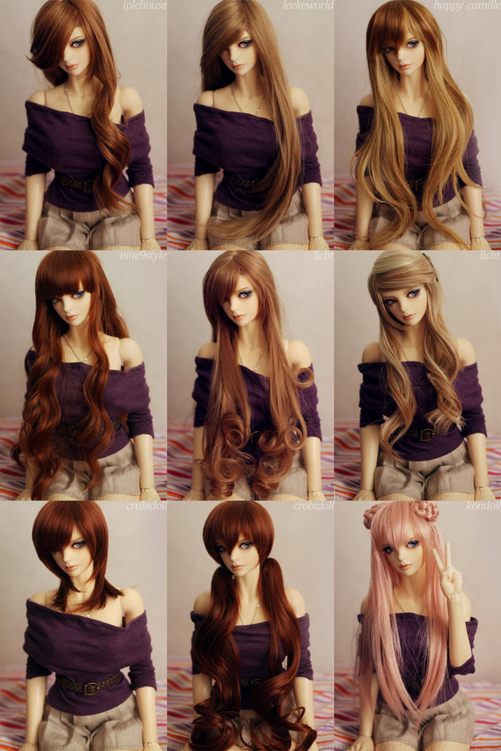 Diva and her Wigs by dollstars