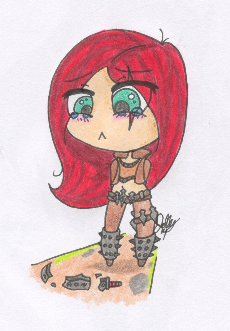 R-Chibi Katarina by Junelle-O