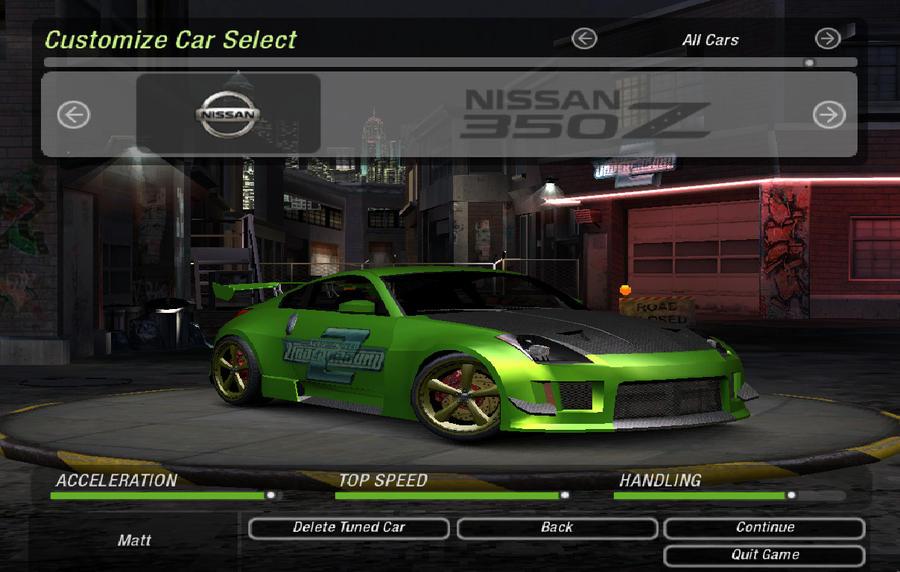 how to make rachel car in nfsu2