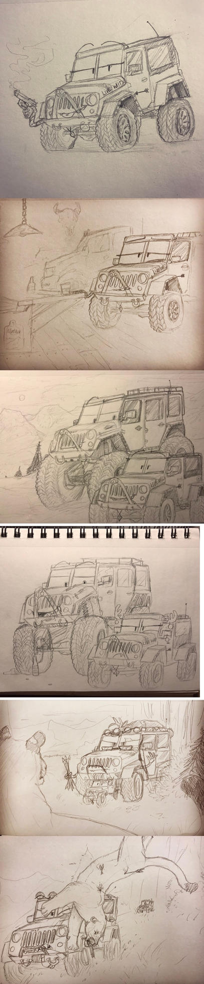 Jeep paper doodles by Minionwolf711