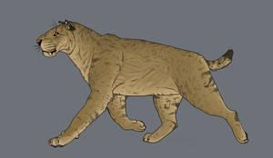 Homotherium trot by Minionwolf711