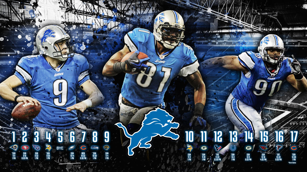 Detroit Lions HD Wallpaper - 2012 Schedule by madeofglass13