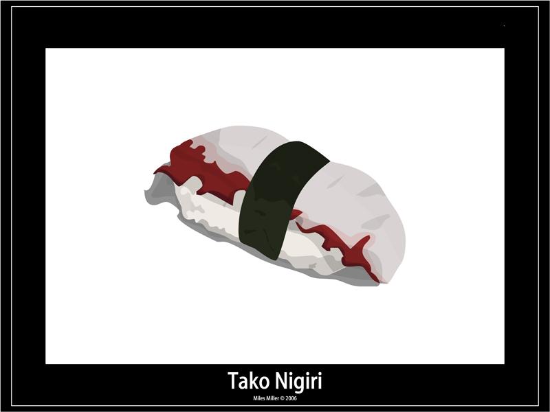 Sushi 12 - Tako Nigiri by madeofglass13