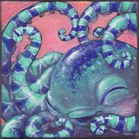 Octopus Mini Painting by goosezilla
