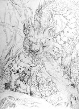 Corgi and Dragon Pencils