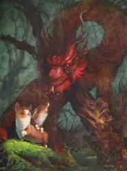 Corgi Dragon Final by goosezilla