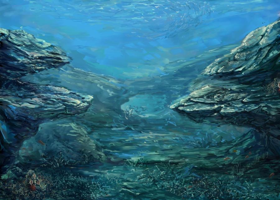 Underwater, sea landscape by Konsuello on DeviantArt