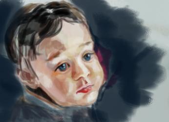 baby sketch by Konsuello