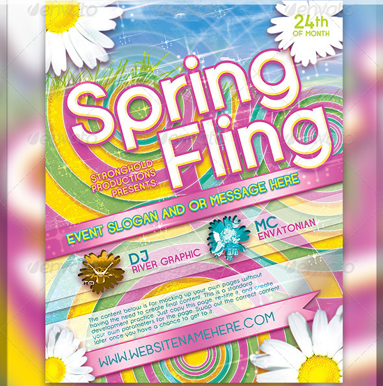 Spring Dance - Flyer Template by CoolFlyers on DeviantArt