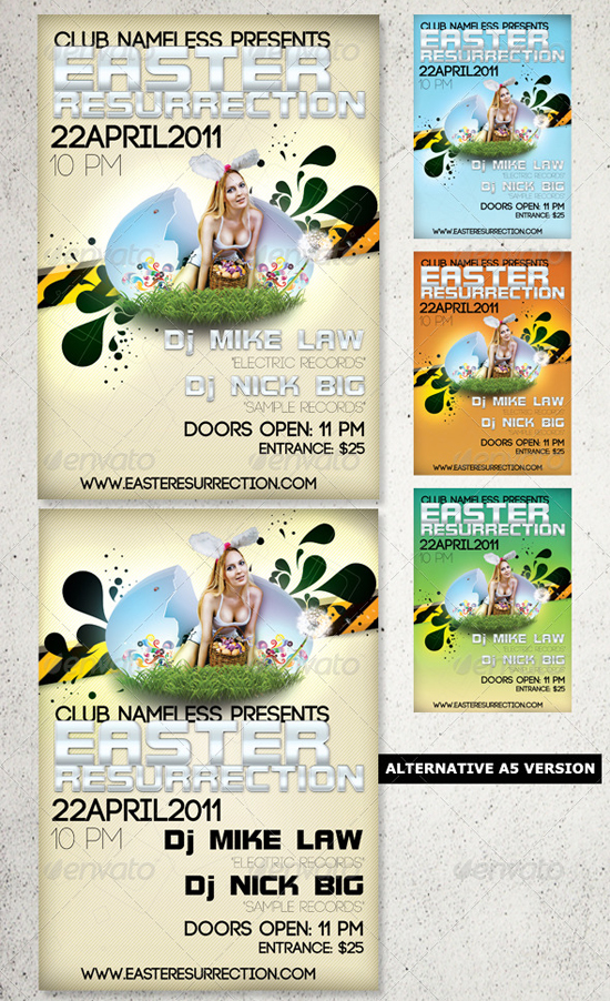 easter party flyer template by coolflyers on deviantart