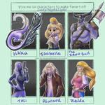Six fanarts challenge by LadyNightLight