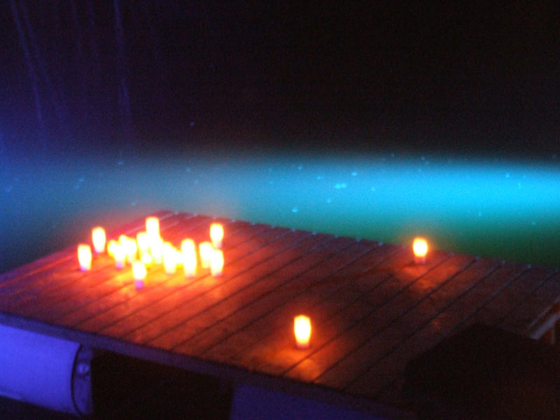 thousands candels in blue lagune by ChiyoMiya