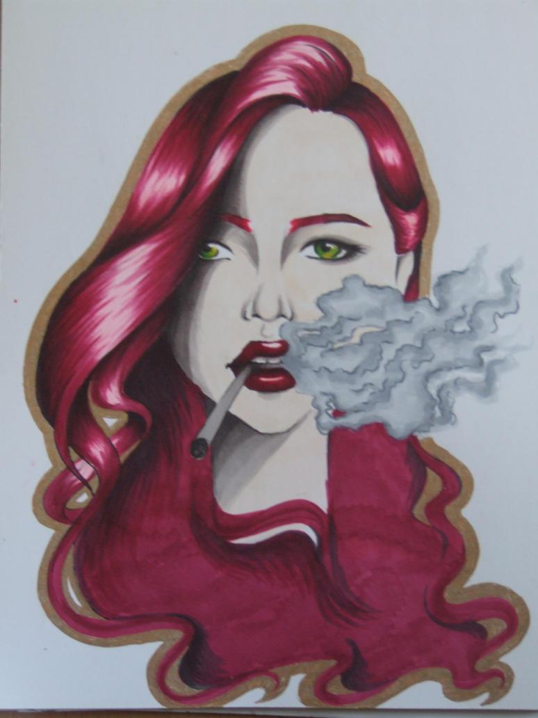 Red smoke by ChiyoMiya