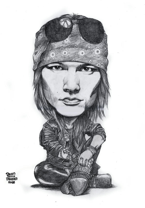 Axl Black and White by deanaxlrose