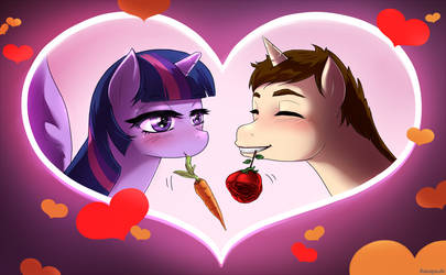 Fanart valentines day twilight and peter in love by sanaya