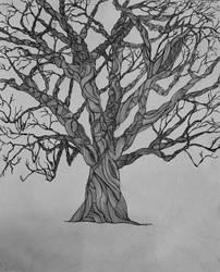 Zentangle Tree 14x17 by Rockincook