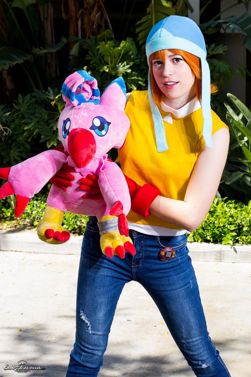 Sora Takenouchi and Biyomon~Digimon Cosplay by kumikochuu ...