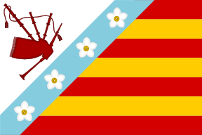Personal flag based on coat of arms by SoaringAven