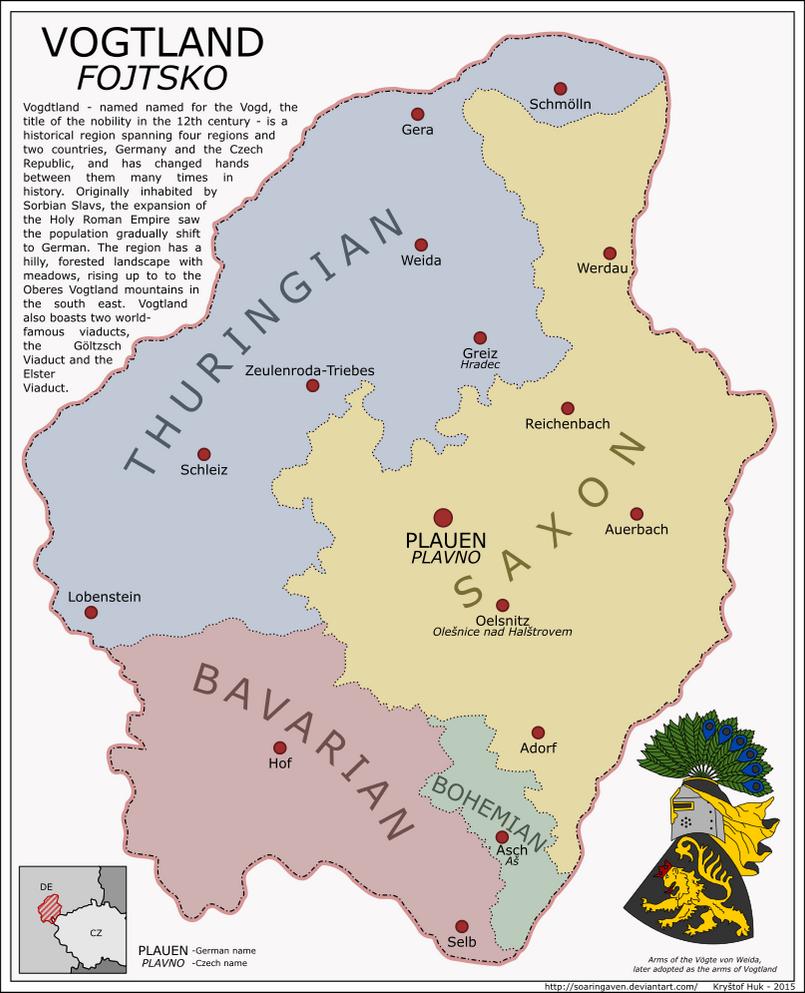 Vogtland map