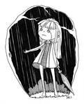 Doll. 1. Rainy day