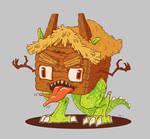 House on dragon legs