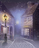 Christmas Carol Background 1 by ll
