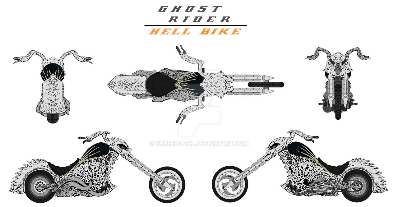 Photo Collection Ghost Rider Bike Drawing