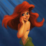Ariel Coloring Exercise