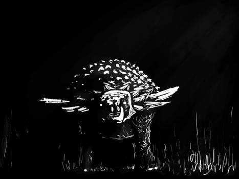 Dinovember 2020 Day 21 - Nighttime Nodosaurs