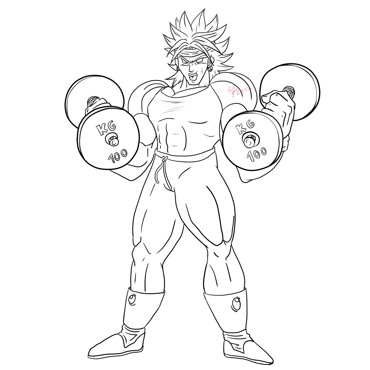 Broly the trainer lineart by ShynTheTruth on DeviantArt