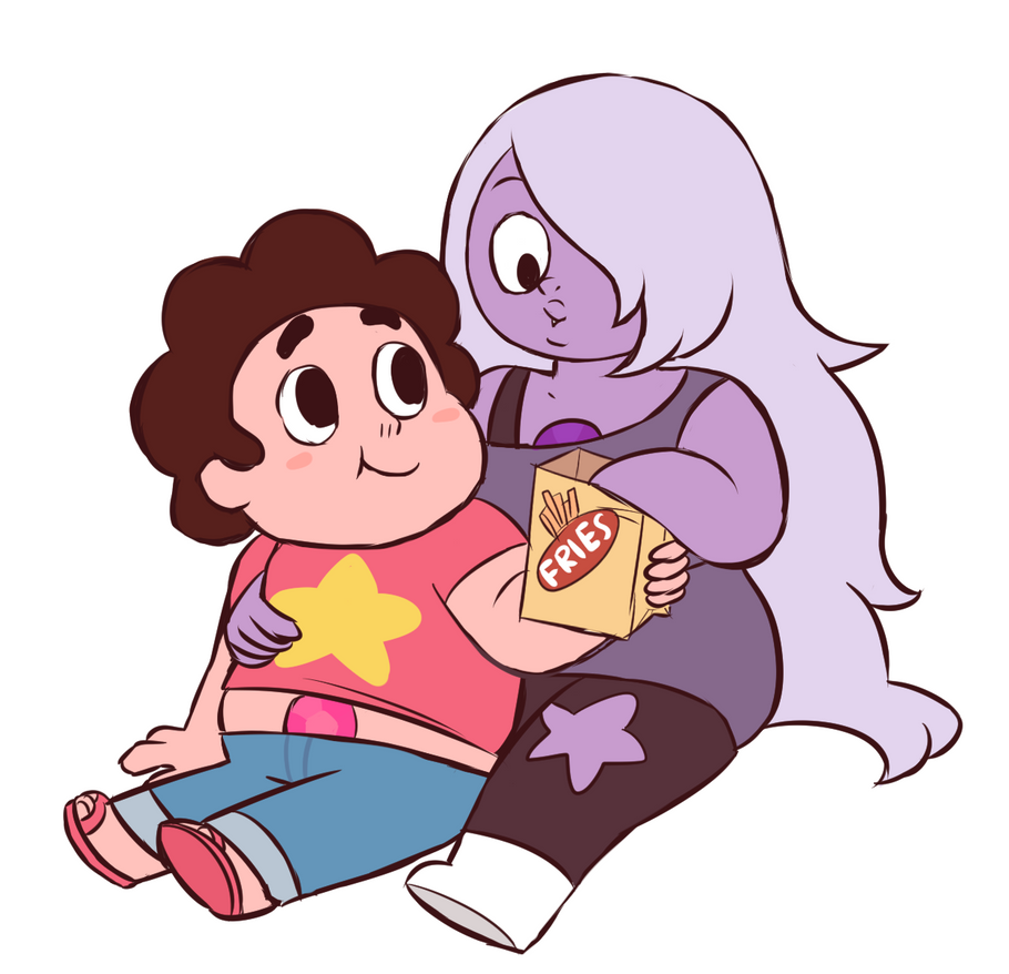 Steven and Amethyst by momomomochocolate