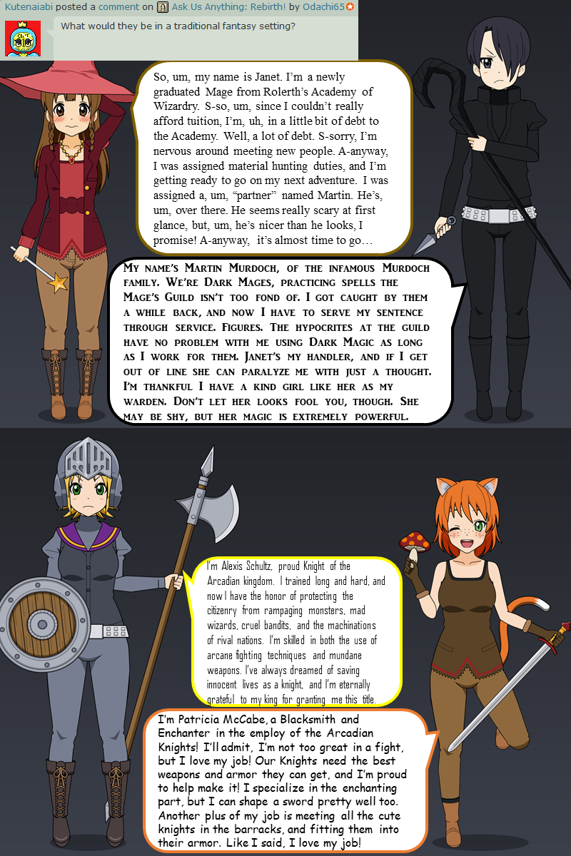 Can We See The Cast In A Traditional Fantasy World By Odachi65 On