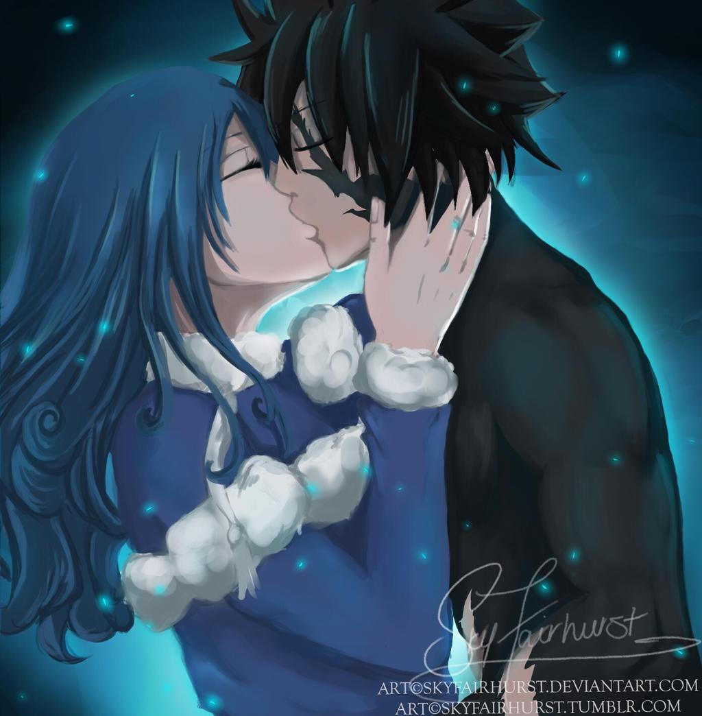 Gruvia kiss