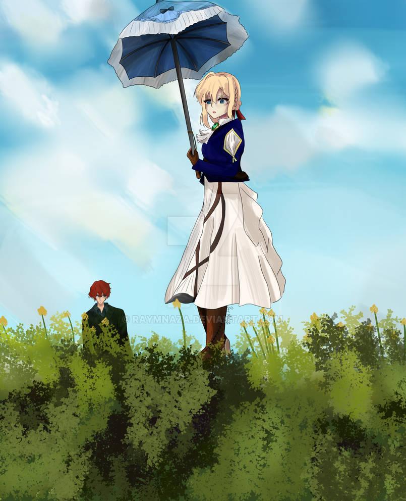Violet with a Parasol