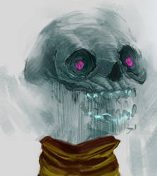 Green Skull by Hefestow