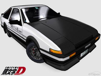Cell Shaded Trueno -Tofu Style by pleyr