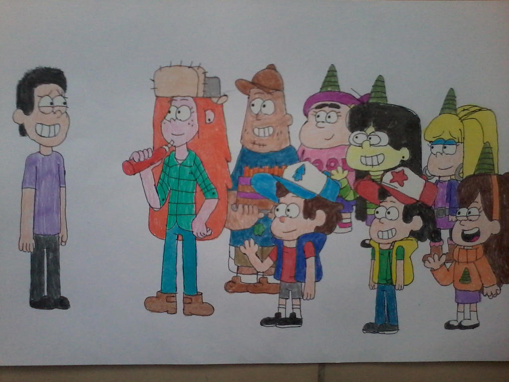 My birthday in Gravity Falls style by AngeloCN on DeviantArt