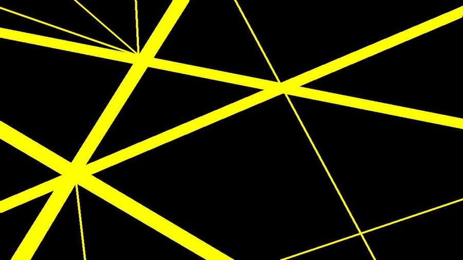 Yellow Stripe Wallpaper: Black With Yellow Stripes V2 By DefLeppardVanHalen On