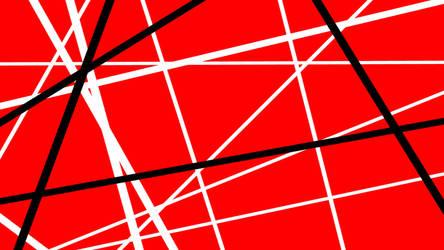 Red with Black + White Stripes by DefLeppardVanHalen