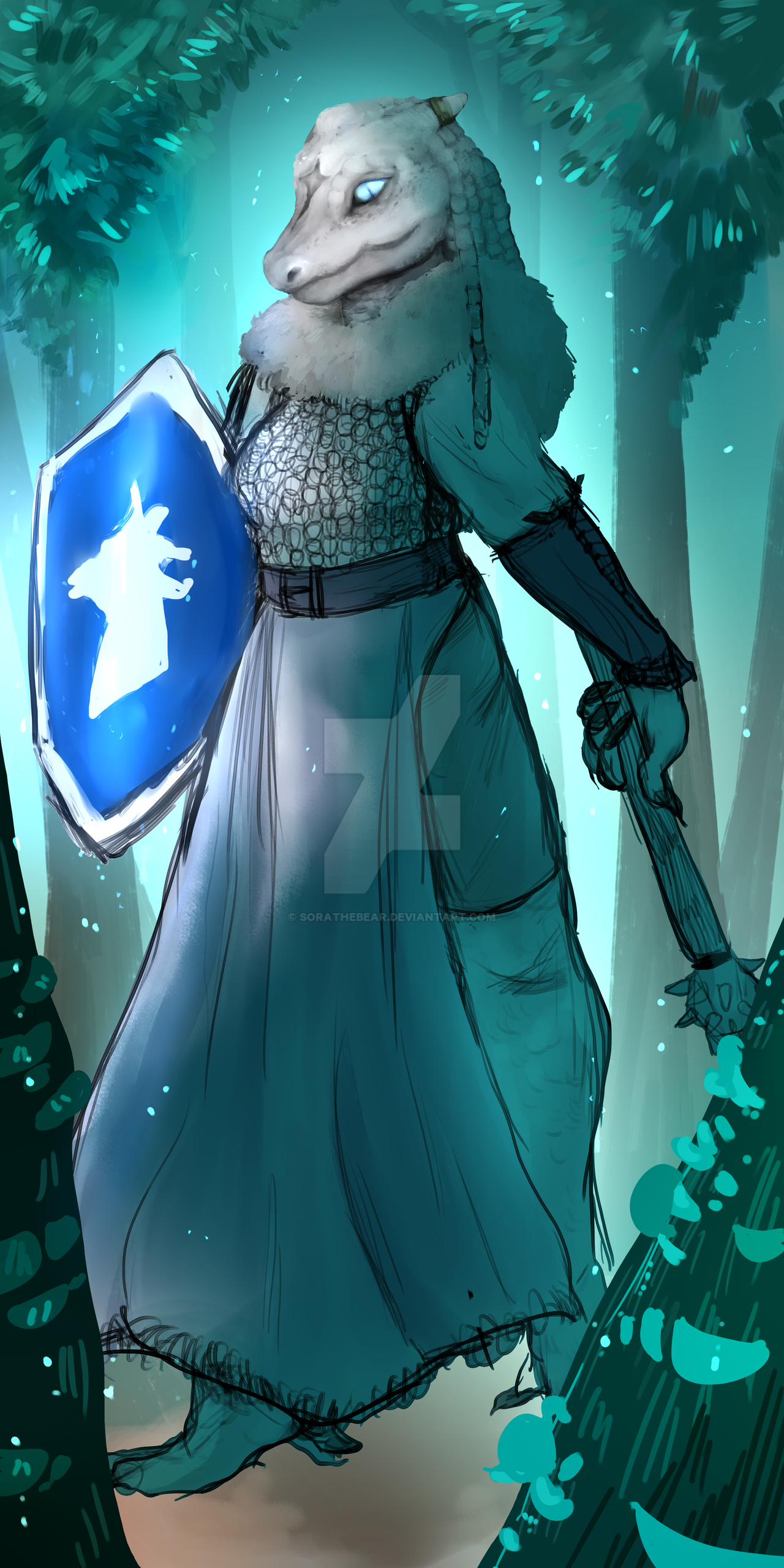 nara of the merrith clan dragonborn cleric wip by