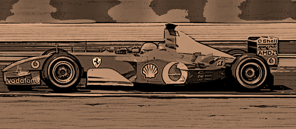 Ferrari F2002 at Magny-Cours by AlberichPotter