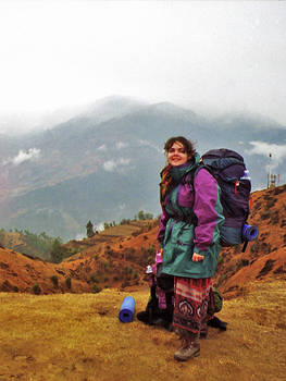 Vicky in the Himalaya