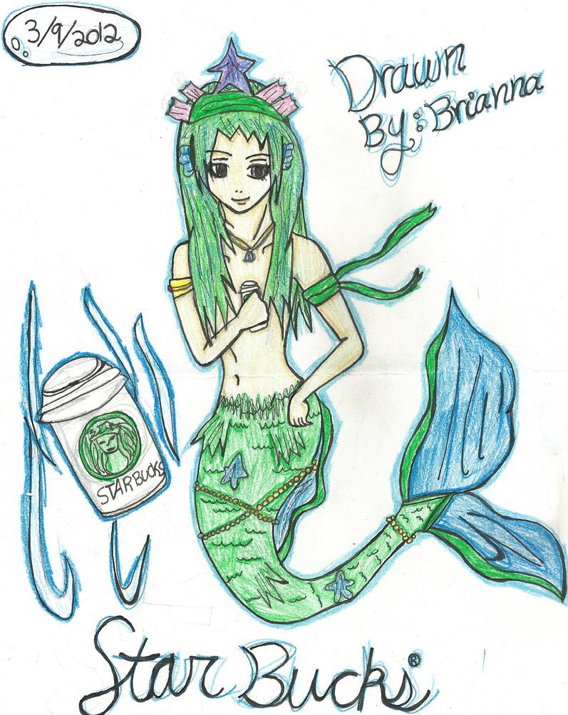Starbucks the Mermaid Colored by Akarui-Sakura