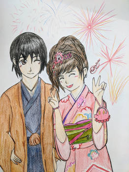 Kimono Couple