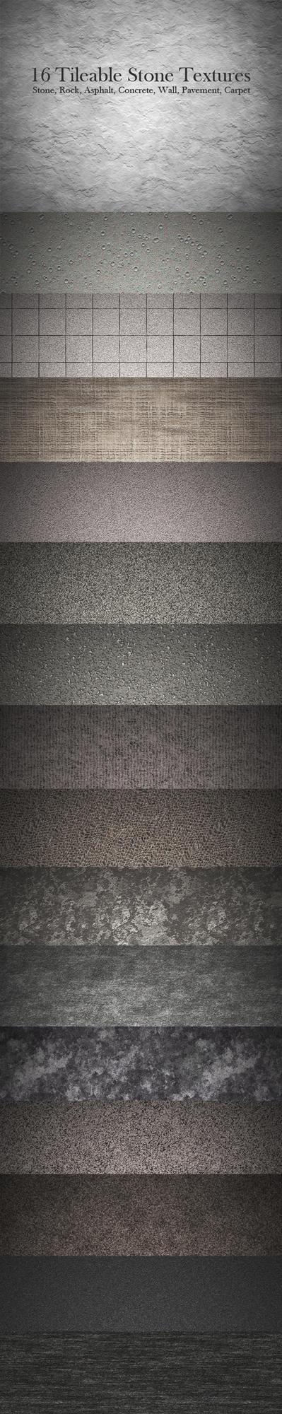 16 Tileable Stone Textures by MuzikizumWeb